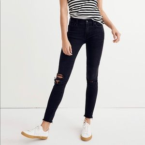 """Madewell 9"""" High Rise Black Skinny Jeans size 30"""